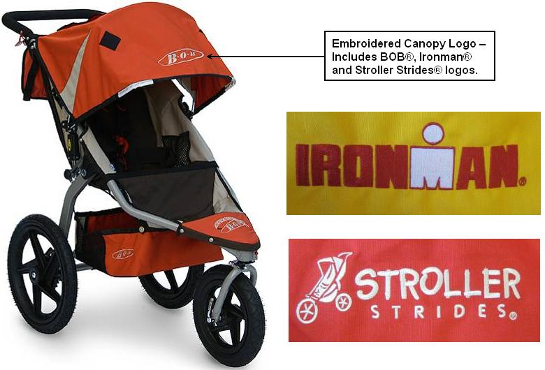 B.O.B. is recalling jogging strollers that have embroidery backing that can pose a choking hazard.