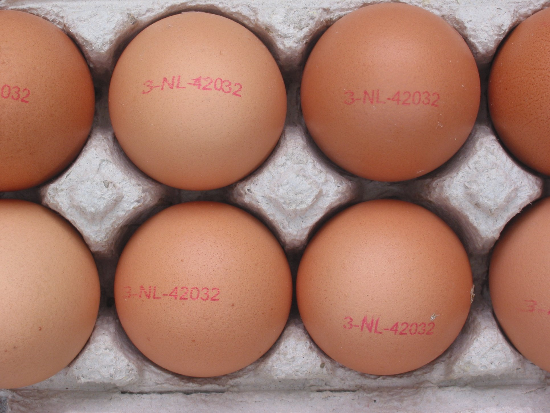 Organic eggs were recalled in three states following six diagnosed cases of salmonella.