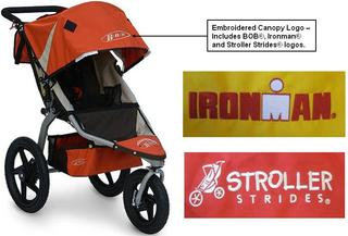 This stroller's embroidered logo patch can detach, posing a choking hazard to babies and young children.