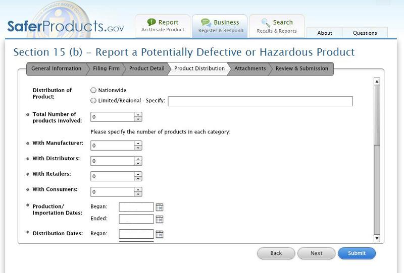The CPSC launched their business portal to help companies better report potentially dangerous products.