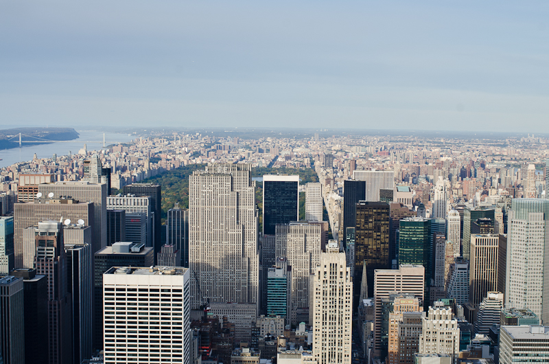 The view from the Empire State Building Obervatory looks over Midtown and Central Park. Photo by Ryan Mollenhauer