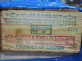 Salted Smoked Split Herring was recalled because the product was found to be uneviscerated.